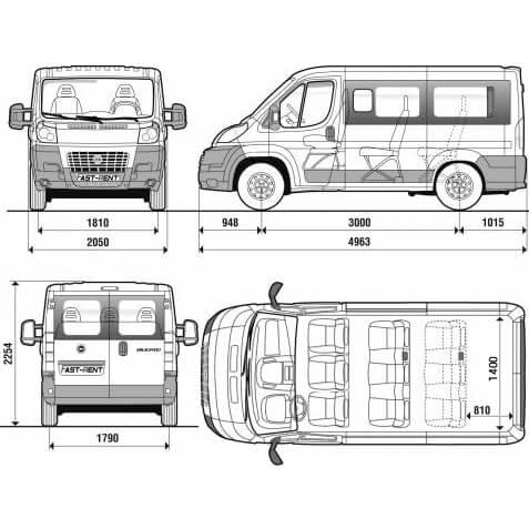 noleggio pulmino minivan 9 posti furgone